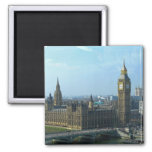 Big Ben and The Houses of Parliament London Square Magnet