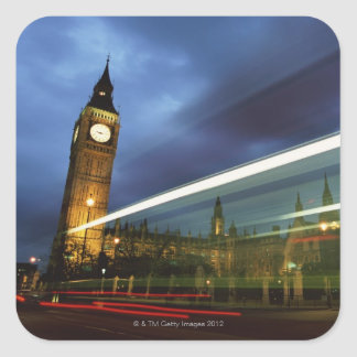 Big Ben and the Houses of Parliament Square Sticker