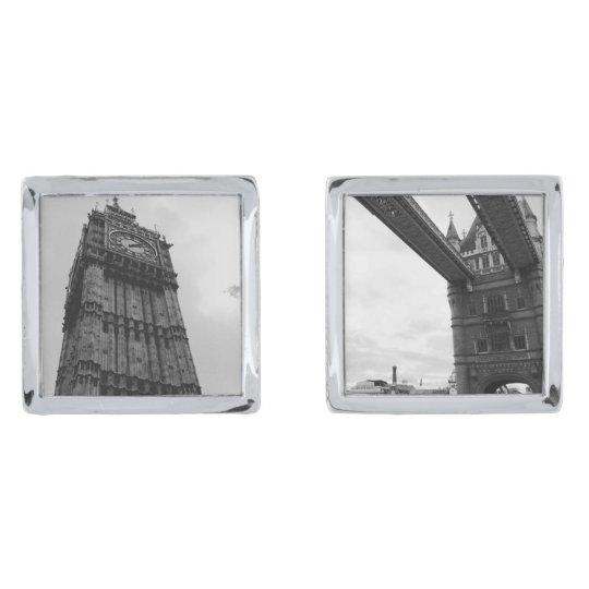 Big Ben and Tower Bridge Silver Finish Cuff