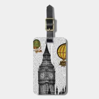 Big Ben and Vintage Hot Air Balloons Luggage Tag