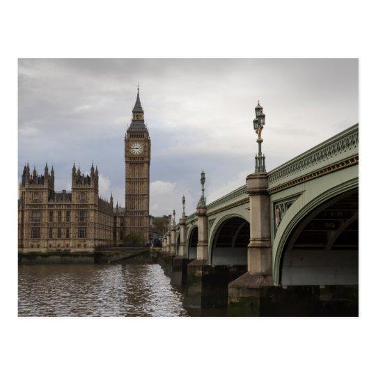 Big Ben and Westminster Bridge Postcard