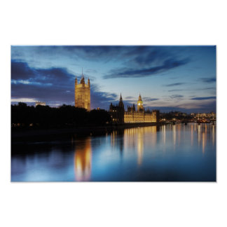 Big Ben and Westminster poster