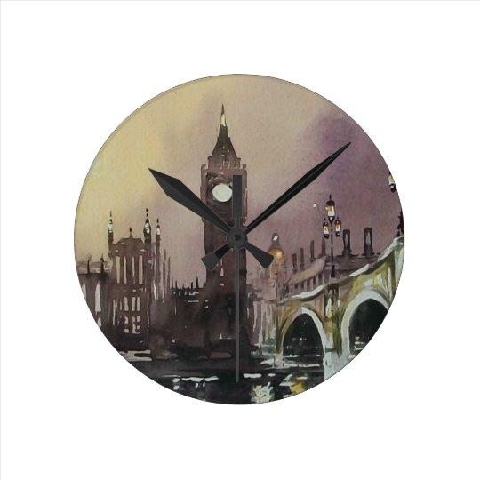 Big Ben At Night London Wall Clock