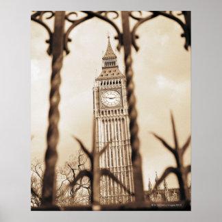 Big Ben at Parliament, London Poster