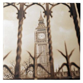 Big Ben at Parliament, London Tile