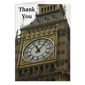 Big Ben Bell Clock in London Card