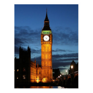 Big Ben by night Postcard