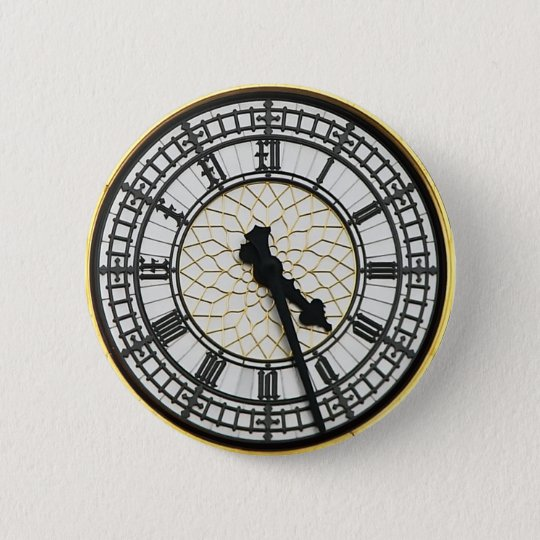 Big Ben Clock Face 6 Cm Round Badge