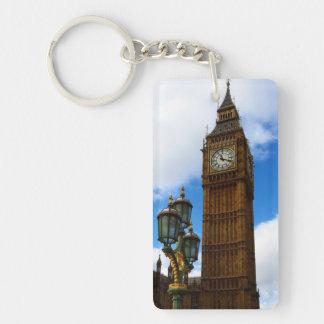 Big Ben Customisable Double-Sided Rectangular Acrylic Key Ring