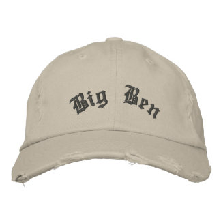Big Ben Distressed Hat Embroidered Baseball Cap