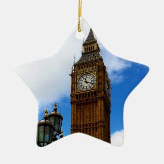 Big Ben Double-Sided Ceramic Star Decoration