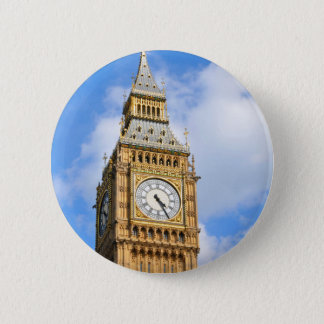 Big Ben in London, UK 6 Cm Round Badge