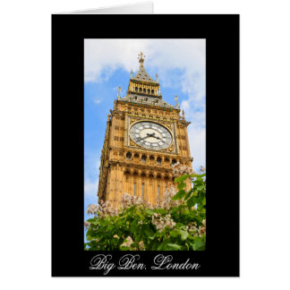 Big Ben in London, UK Card