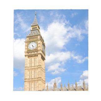 Big Ben in London, UK Notepad