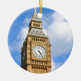 Big Ben in London, UK Round Ceramic Decoration