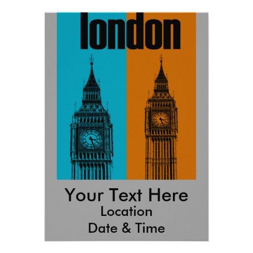 Big Ben in London, Ver. 2 Personalized Invitation