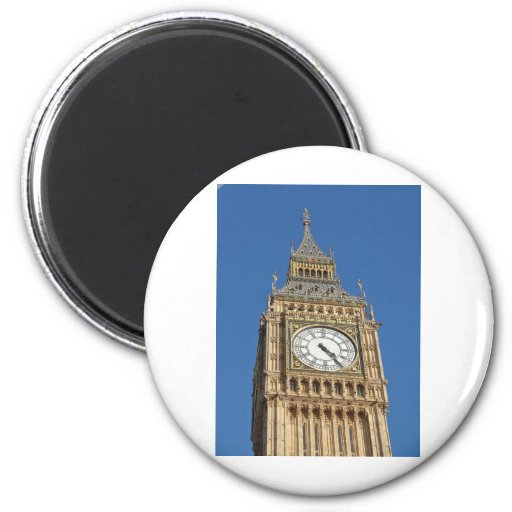 Big Ben London 6 Cm Round Magnet