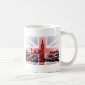 Big Ben London and Union Jack flag Basic White Mug
