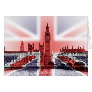 Big Ben London and Union Jack flag Card