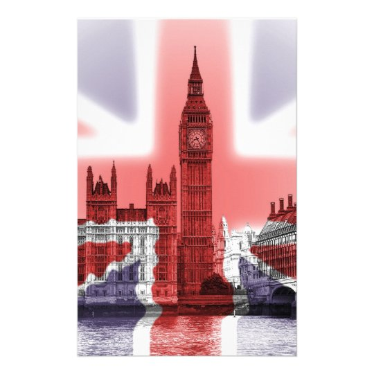 Big Ben London and Union Jack flag Custom