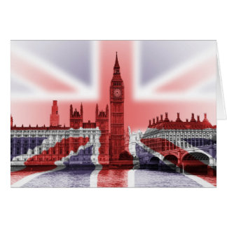 Big Ben London and Union Jack flag Greeting Card