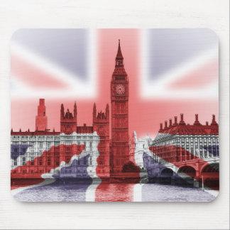 Big Ben London and Union Jack flag Mouse Mat