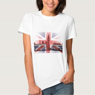 Big Ben London and Union Jack flag Tees