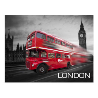 Big Ben London Bus Postcard