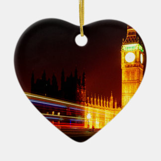 Big Ben, London Ceramic Heart Decoration