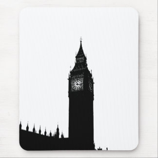 Big Ben London England silhouette graphic Mouse Pad