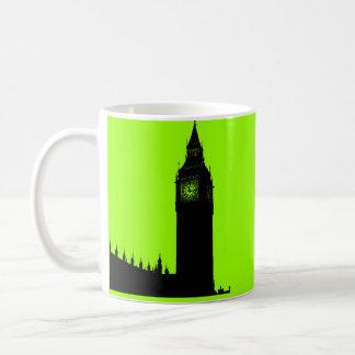 Big Ben London England silhouette graphic Mugs