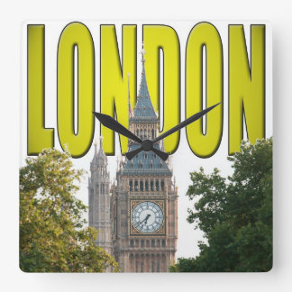 Big Ben London England Square Wall Clock