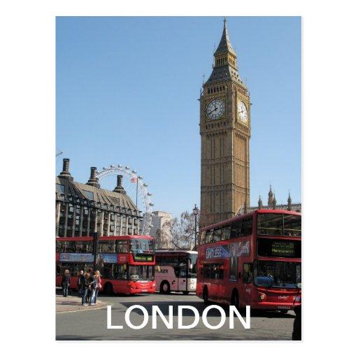 Big Ben London Eye Westminster UK postcard