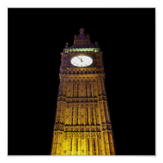 Big Ben, London (poster edge effect) Poster