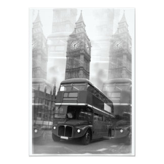 Big Ben & London Red Bus Invitation