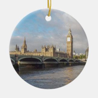 Big Ben London Round Ceramic Decoration