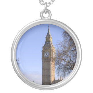 Big Ben London Round Silver Necklace