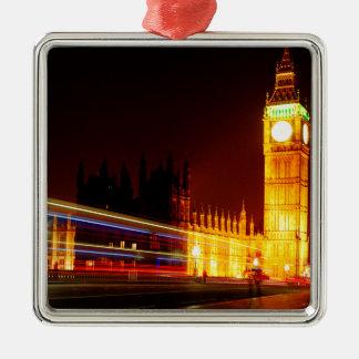 Big Ben, London Silver-Colored Square Decoration