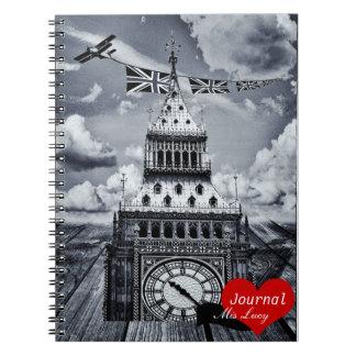 Big Ben, London surreal artwork (Notebook) Note Books