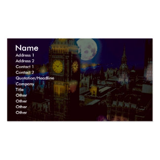 Big Ben, London with moon Business Card