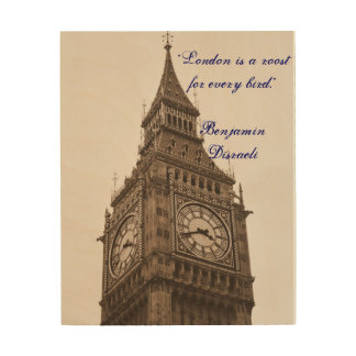 Big Ben - London Wood Canvases