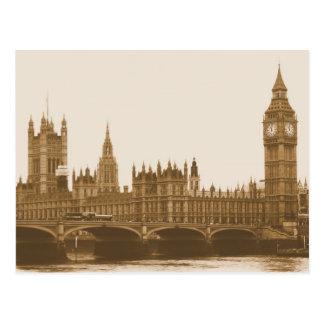 Big Ben - Parliament - Westminster Bridge Postcard