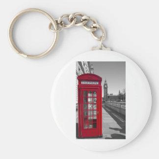 Big Ben Red Telephone box Basic Round Button Key Ring