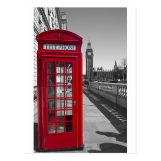 Big Ben Red Telephone box Postcard