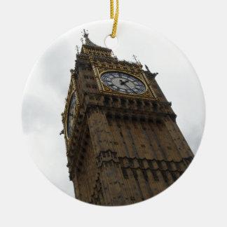 Big Ben Round Ceramic Decoration
