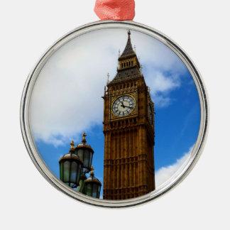 Big Ben Silver-Colored Round Decoration