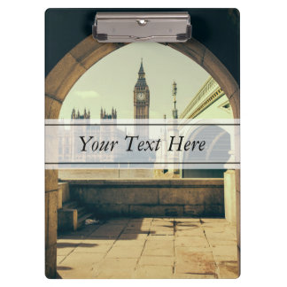 Big Ben Under The Arch, London UK. Clipboard
