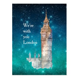 Big Ben Watercolor London Solidarity Postcard
