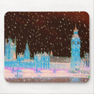 Big Ben Westminster Abbey London Red Skies Mouse Pads