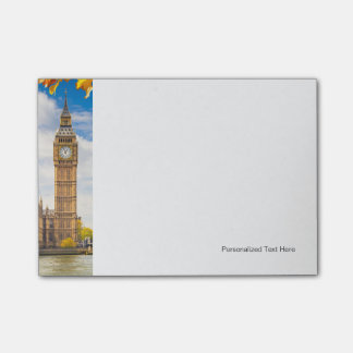 Big Ben With Autumn Leaves, London Post-it Notes